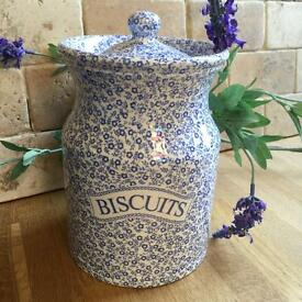 NEW - Burleigh Pottery Biscuit Jar