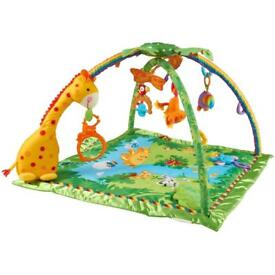 Fisher Price Rainforest™ Melodies And Lights Deluxe Gym Excellent condition