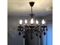 Black chandelier 5 arm