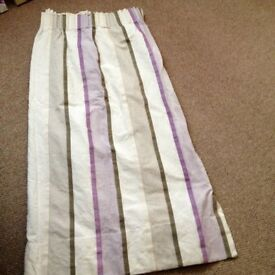 curtains cream /purple / grey colour
