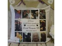 Personalised photo cushions. Buy one get one free