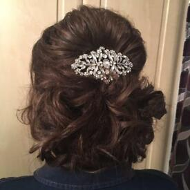 Gorgeous wedding hair piece