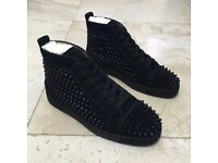 LOUIS ORLATO FLAT SPIKES SUEDE BLACK SIZE 9