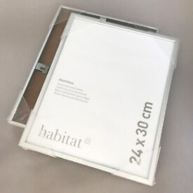 Two silver Habitat Aluminus picture frames 24x30cm - as new still in wrappers!