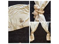 Nursery curtains and matching cot blanket