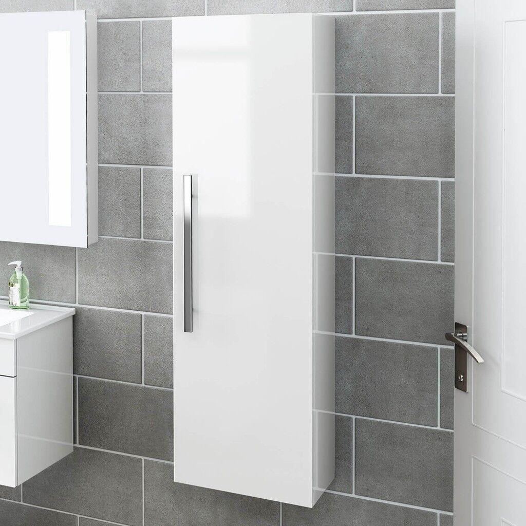 Large White bathroom cabinet - £80 ONO   in Swansea   Gumtree