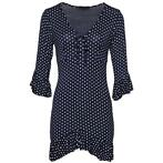 Dot me up dress navy-l