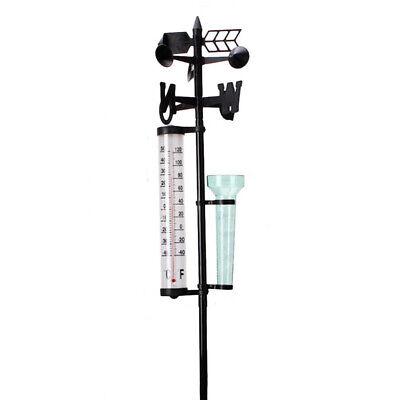 Garten Wetterstation mit Regenmesser Windmesser Thermometer, 3 Funktionen