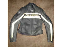 Womans Arlen Ness leather motorcycle jacket - as new