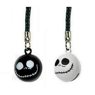 SET OF 2 JACK SKELLINGTON BELL CHARM Nightmare Before Christmas Cell Phone (Cell Phone Strap Set)
