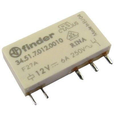 Finder 34.51.7.012.0010 Relais 12V DC 1xUM 6A 840R 250V AC Relay Print 069228