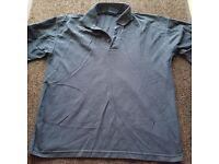 Airfayre Premium 100% Cotton Polo T Shirt Large Navy Used