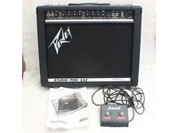 A Peavey 65w Studio Pro 112 Guitar Amp Pedal and Manual