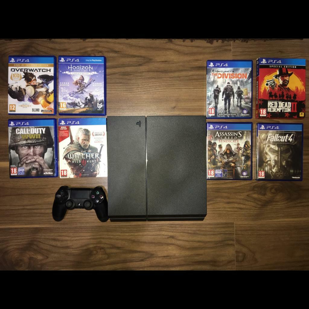 PS4 Console, 500GB Black + Games (Read Description) | in Kentish Town,  London | Gumtree