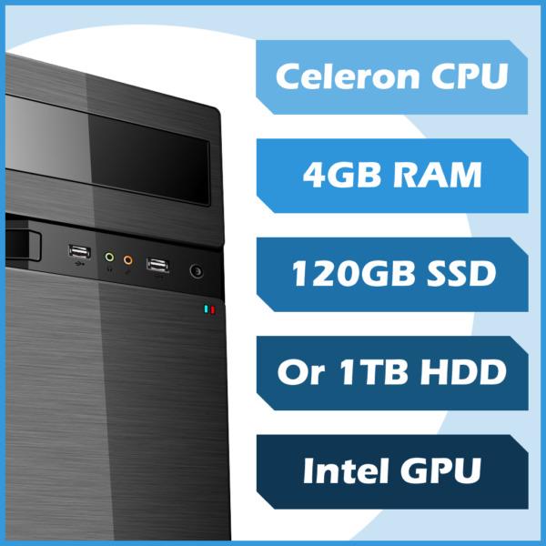 Essential 4 Me PC - Celeron, 4GB, 120GB SSD, Win10