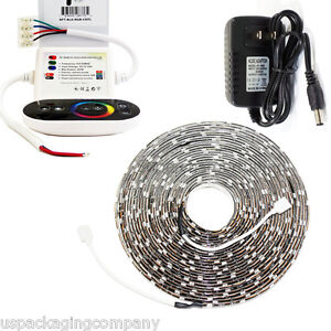 32ft rgb led kitchen under cabinet light strips strip bars kit 120v