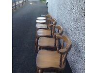 Breakfast bar stools oak