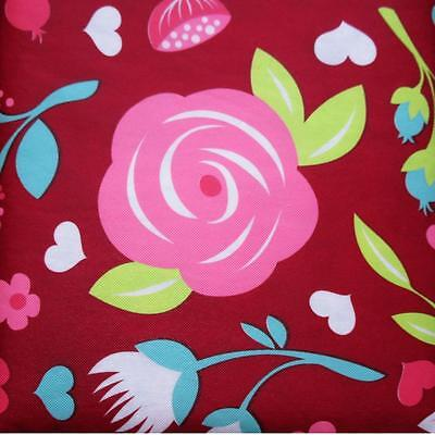 VALENTINE'S TABLECLOTH~Vinyl~Flannel Back~ALL SIZES~Flowers Roses  Hearts~New - Valentine Tablecloth
