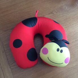 Childs Ladybird Travel Support Neck Pillow