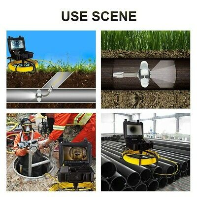 9 50m Pipe Pipeline Inspection System 23mm Industrial Sewer Camera Video 16gb