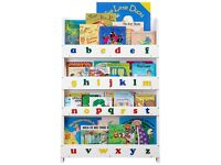 lovely kids white ABC bookcase/bookshelf