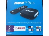 NOW TV Box with Sky Cinema 2 Month Pass, Brand New, Sealed