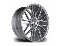 "Fits Range Rover Vogue Sport Disco x4 22"" Riviera Rv130 Alloys Silver Brushed"