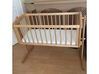 Mothercare crib and mattress in good condition.suitable from birth