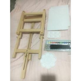 Artist easel and paint set brand new