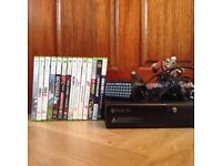 X box360 with controls and 13 games