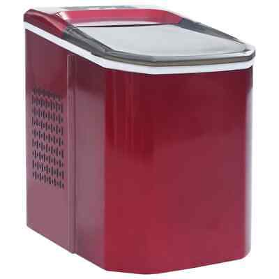 Vidaxl Ice Cube Maker Red 0.37gal 33.1lbs24h Countertop Automatic Machine