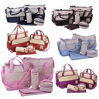 Set Multi Function Baby Diaper Nappy Changing Bag Mummy Tote Shoulder Handbag  Baby Diaper Bag Set