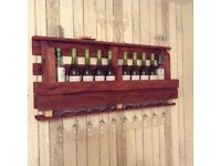 Wooden Wine Rack (Made from upcycled wooden pallet)
