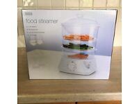 MARKS AND SPENCER 3 TIER ELECTRIC STEAMER - NEW BOXED AND STILL SEALED