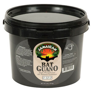 Sunleaves Jamaican Bat Guano 3 lb TUB - Organic Fertilizer Plant Nutrient Soil