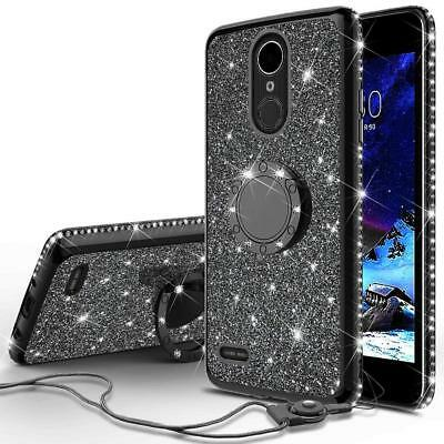 For LG Stylo 4/Stylo 4 Plus Ring Stand Glitter Bling Cute Phone Case - Lg Purple Case