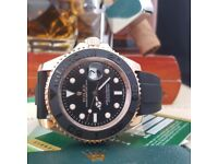 Rolex YachtMaster Everose Comes Rolex Bagged and Boxed with paper