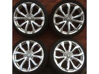 Audi 18 A4 alloy wheels tyres A3 vw Scirocco Golf Passat Caddy Jetta Seat Leon Skoda alloys 19 17