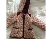 Girls padded jacket 1.5-2 years
