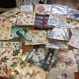Large collection of Serviettes for Decoupage