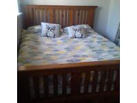 large king size solid wood bed frame