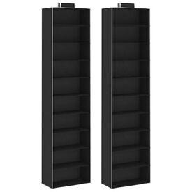 Hanging Closet Organisers 2 pcs with 10 Shelves Fabric-288327