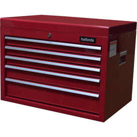 Brand NEW Halfords 5 Drawer Tool Chest / RED / Tool Box / 2018 / FREE Local Delivery