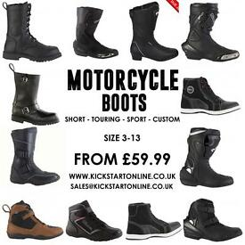 Motorcycle boots from £59.99 flip up helmets from £49.99 at kickstart Belfast