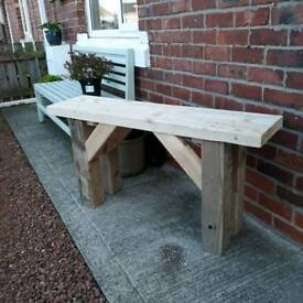 Solid Wooden bench