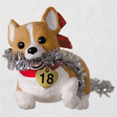 (Puppy Love Welsh Corgi 2018 Ornament 2018 Hallmark Ornament)