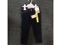 Two 2-3 years girls jeans one brand new with tags