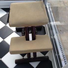 Back posture kneeling stool