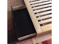 IKEA Mandal Bed Frame with Storage - Black