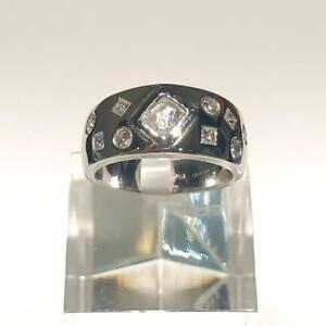 Rare Find 18K Certified Canadian Mined Uncut (Rough) Diamond Ring with Diamond Side Stones
